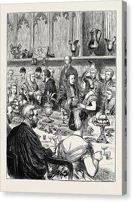 The Loving Cup A Sketch At The Lord Mayors Banquet Canvas Print by English School