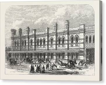 The Ludgate-hill Station Of The London, Chatham Canvas Print by English School