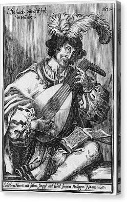 The Lute Player, Ludwig Bsinck Canvas Print by Ludwig B?sinck
