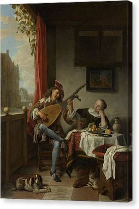 The Lutenist, Hendrick Martensz Canvas Print by Litz Collection