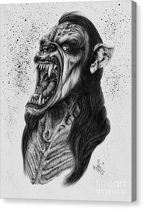 The Lycanthrope Canvas Print by Wave
