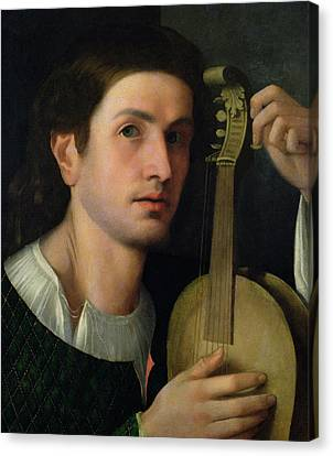 The Lyre Canvas Print by Italian School