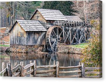 Canvas Print featuring the photograph The Mabry Mill - Blue Ridge Parkway - Virginia by Gregory Ballos