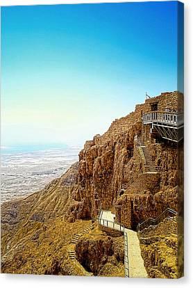 The Machabees And Their Masada Canvas Print by Sandra Pena de Ortiz
