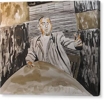 The Macher Canvas Print by Esther Newman-Cohen