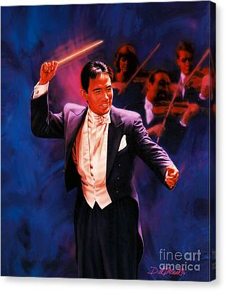 The Maestro Canvas Print by Dick Bobnick