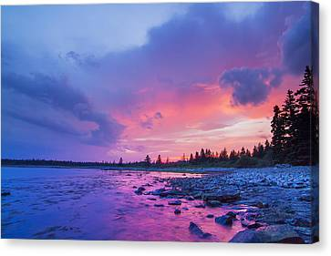 The Magic Hour In Acadia National Park Canvas Print by Mircea Costina Photography