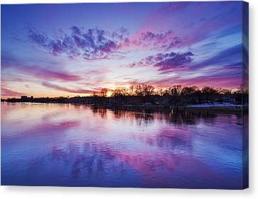 The Magic Hour Canvas Print by Mircea Costina Photography