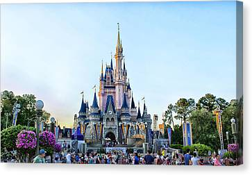 The Magic Kingdom Castle On A Beautiful Summer Day Horizontal Canvas Print by Thomas Woolworth
