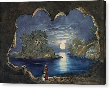 The Magic Lake Circa 1856  Canvas Print by Aged Pixel