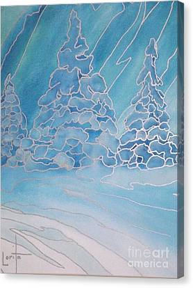 The Magic Of Snow Canvas Print