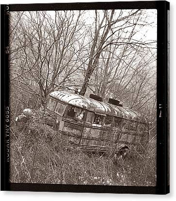 The Magic School Bus Gone Terribly Wrong Canvas Print by Martin Seelig