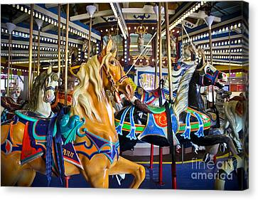 The Magical Machine - Carousel Canvas Print by Colleen Kammerer