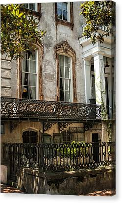 Masterful Canvas Print - The Magical Wrought Iron Of Savannah by Kathy Clark