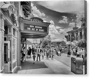 Canvas Print featuring the photograph The Main Street Cinema by Howard Salmon
