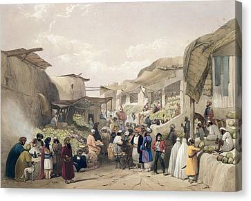 The Main Street In The Bazaar Canvas Print by James Atkinson