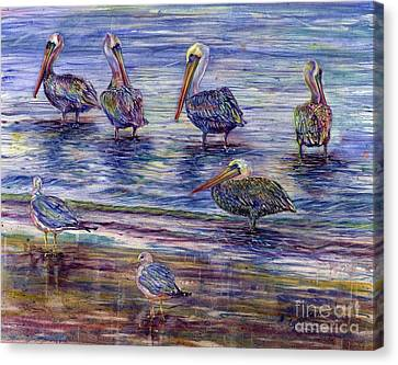 The Majestic Pelican Visit Canvas Print