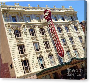 Canvas Print featuring the photograph The Majestic Theater Dallas #1 by Robert ONeil