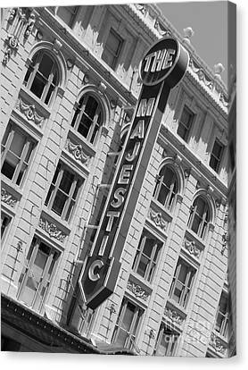 Canvas Print featuring the photograph The Majestic Theater Dallas #3 by Robert ONeil