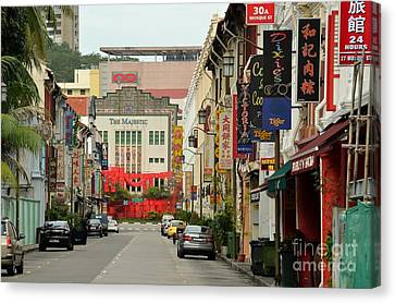 Canvas Print featuring the photograph The Majestic Theater Chinatown Singapore by Imran Ahmed
