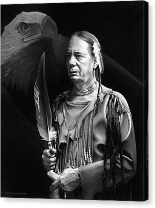 The Making Of A Chief Canvas Print by Doug Comeau