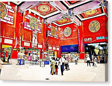 The Mall Canvas Print by Peter Waters