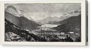 The Maloja Valley, A New Health Resort In The Upper Engadine Canvas Print by Swiss School