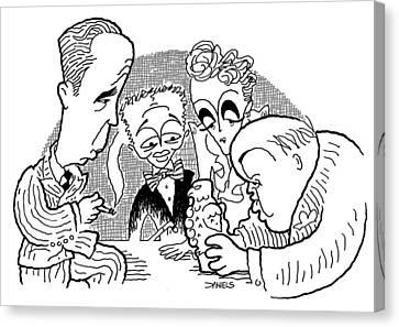 The Maltese Falcon Cartoon Canvas Print by Stephen Daniels