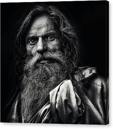 Beard Canvas Print - The Man From Agra by Piet Flour