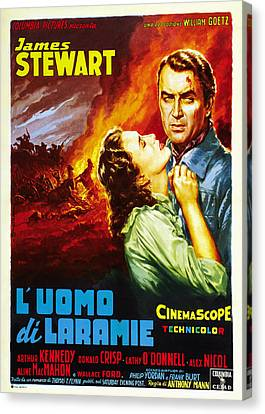 The Man From Laramie, Aka Luomo Di Canvas Print by Everett