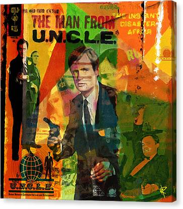 Graphics Canvas Print - The Man From Uncle by Russell Pierce