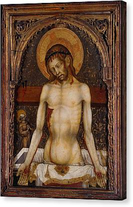 The Man Of Sorrows Canvas Print by Michele Giambono