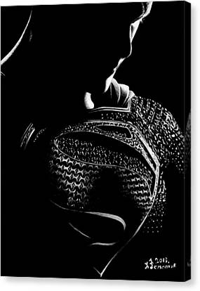 The Man Of Steel Canvas Print by Kayleigh Semeniuk