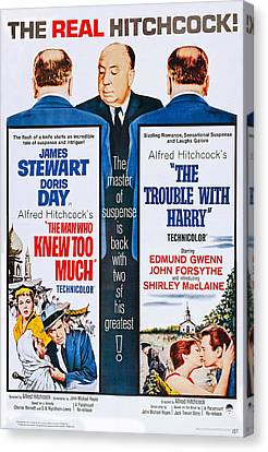 Films By Alfred Hitchcock Canvas Print - The Man Who Knew Too Much On Double by Everett