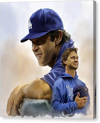 The Manager  Don Mattingly Canvas Print by Iconic Images Art Gallery David Pucciarelli