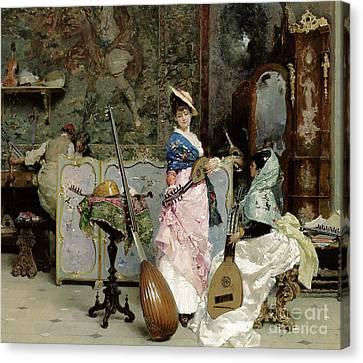The Mandolin Shop Canvas Print by Vincenzo Capobianchi