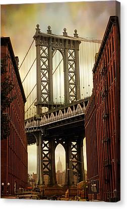 The Manhattan Bridge Canvas Print by Jessica Jenney