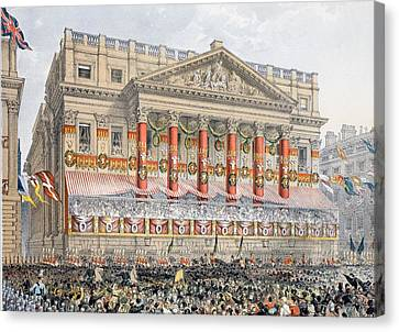 The Mansion House, 7th March, 1863 Canvas Print by English School