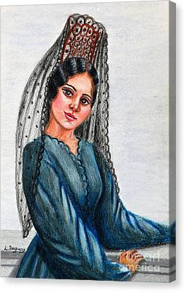 The Mantilla Canvas Print by Lora Duguay