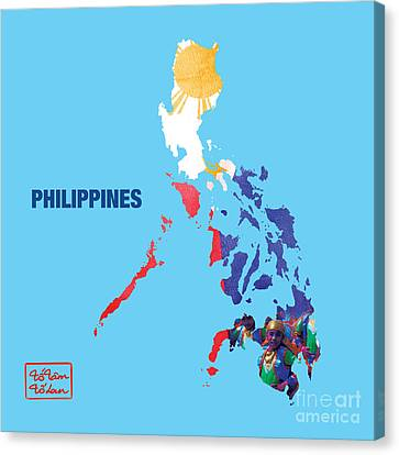 Counry Canvas Print - The Map Of Philippines by To-Tam Gerwe
