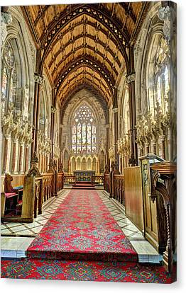The Marble Church Interior Canvas Print by Mal Bray