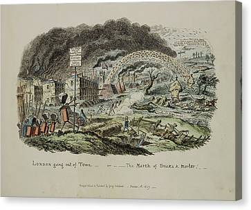 The March Of Bricks And Morter Canvas Print by British Library