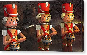 The March Of The Wooden Soldiers Canvas Print