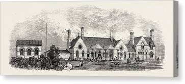 The Margate Station Of The East Kent London Canvas Print by English School