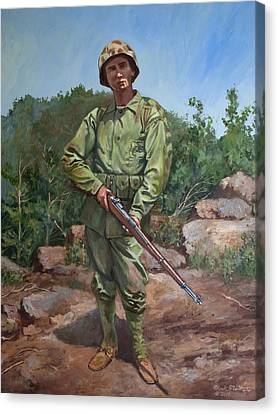 The Marine Canvas Print by Mark Maritato