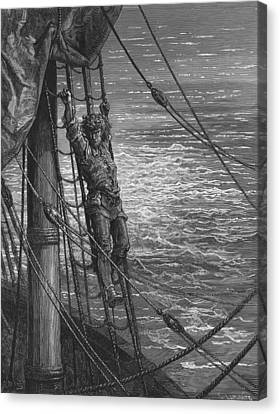 The Mariner Describes To His Listener The Wedding Guest His Feelings Of Loneliness And Desolation  Canvas Print