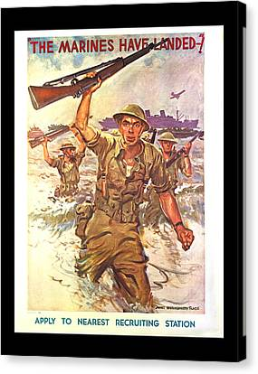 The Marines Have Landed Canvas Print by Annette Redman