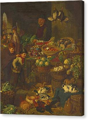 Henry Charles Bryant Canvas Print - The Market Stall by Celestial Images