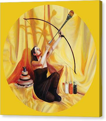 The Markswoman Canvas Print by Shelley Irish