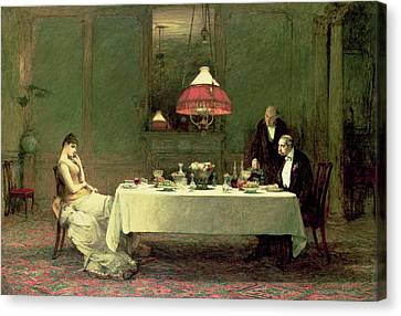 The Marriage Of Convenience, 1883 Canvas Print by Sir William Quiller Orchardson